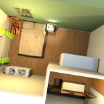 Chambre1 vert3 lin