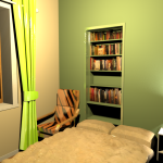 Chambre2 vert3 lin